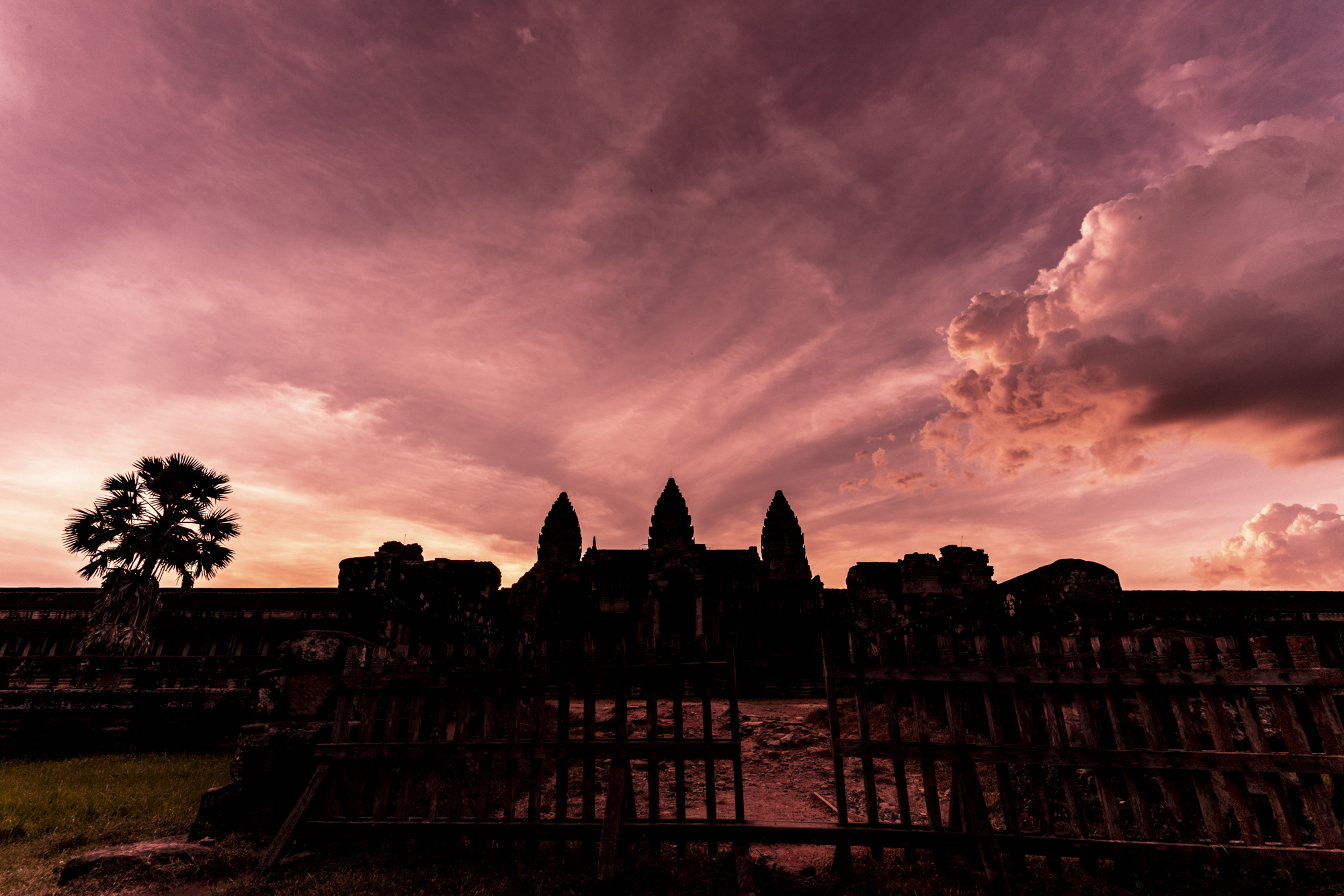 Sunset seen AngkorWat